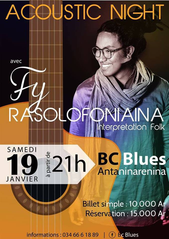 ACOUSTIC NIGHT avec Fy Rasoloniaina ce Samedi 19 Janvier 2019 à 21h