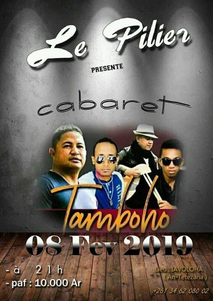 Tarika Tamboho en cabaret à Le Pilier le vendredi 08 fevrier 2019 21h