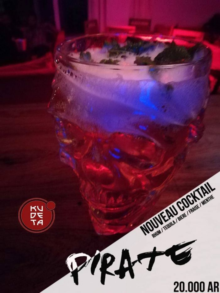 "NOUVEAU COCKTAIL ""PIRATE "" au KUDETA Urban club Anosy"