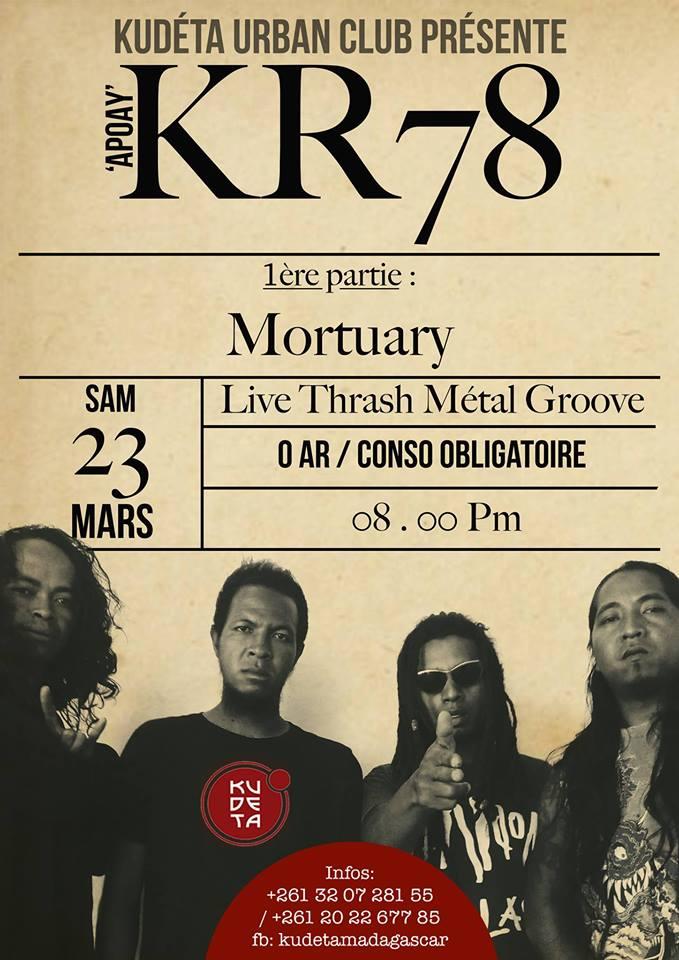 KR78 au KUDETA URBAN CLUB ANOSY le Samedi 23 mars 2019 à 20h00