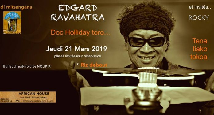 DOC HOLLIDAY TORO le jeudi 21 mars 2019 au African House Faravohitra