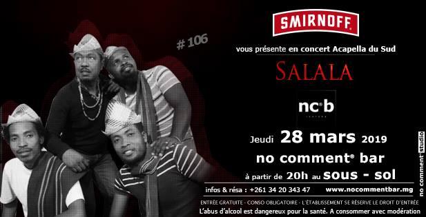 SALALA le jeudi 28 mars 2019 à 20h au No comment bar (NCB)