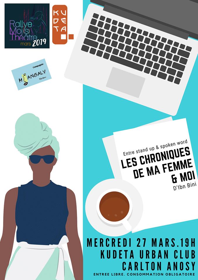 LES CHRONIQUES DE MA FEMME ET MOI au KUDETA URBAN CLUB le mercredi 27 mars 2019