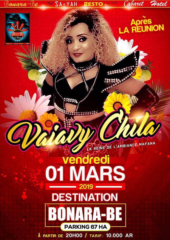 VIAVY CHILA en cabaret le vendredi 01 mars à 20h00 au Bonara Be 67