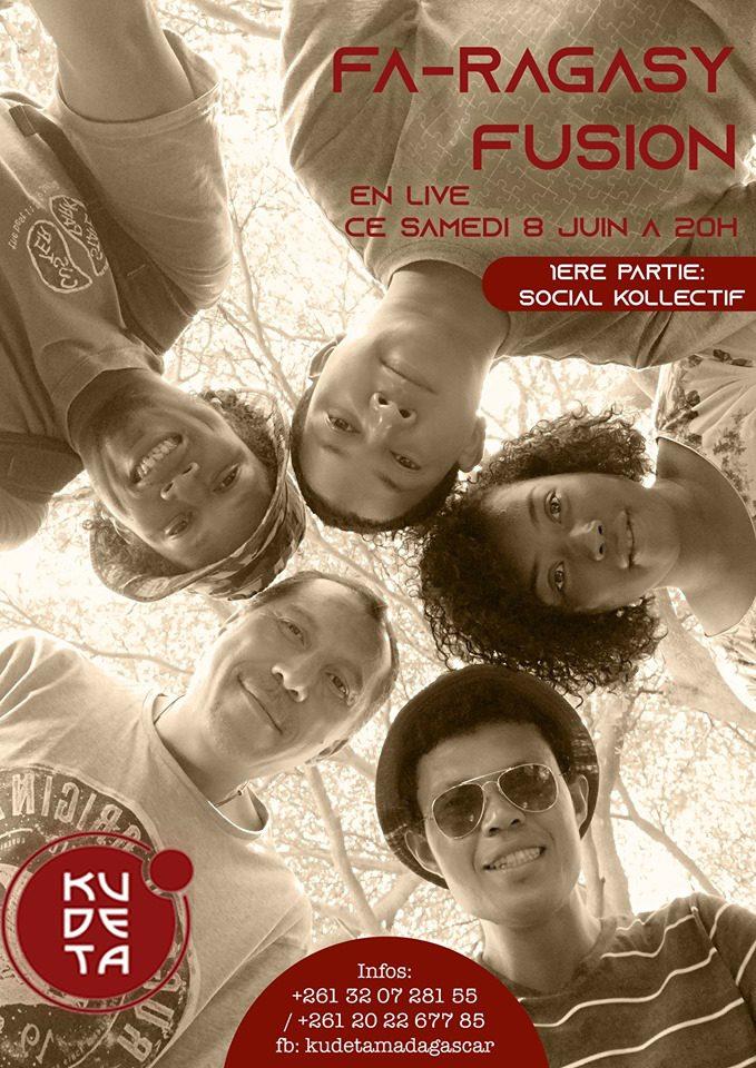 FA-RAGASY FUSION le Samedi  08 juin au Kudeta Urban club