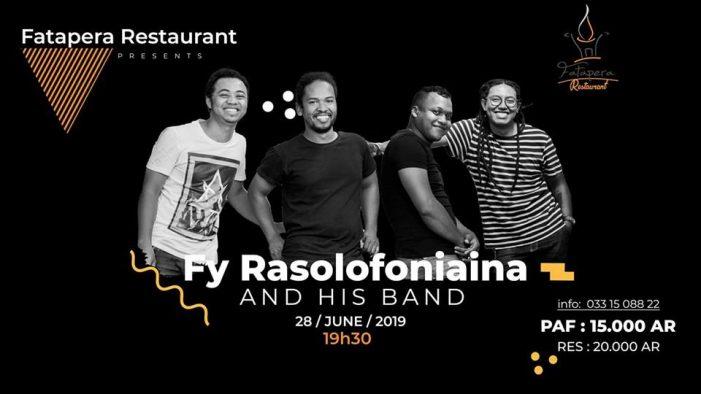 Fy Rasolofoniaina & Band au Fatapera restaurant à 19h30 le 28 juin 2019