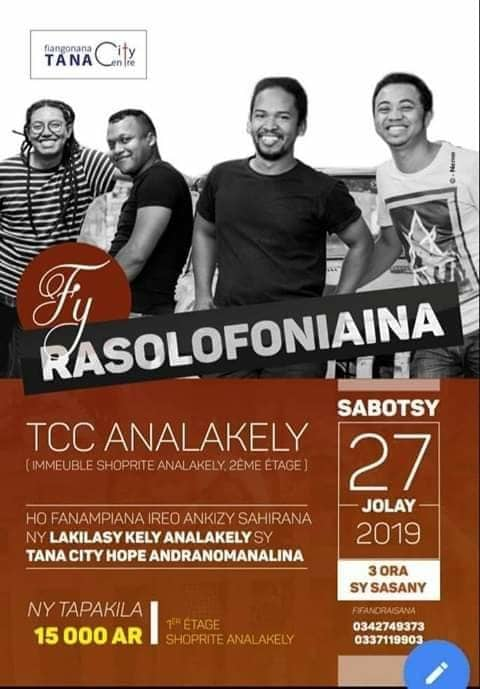 FY RASOLOFONIAINA au TCC Analakely le samedi 27 juillet 2019