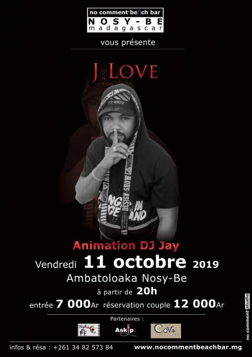 DJ Jay au NCB Nosy be le vendredi 11 octobre à 20h