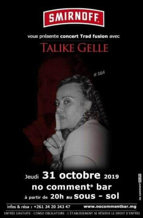Talike Gellé – No Comment Bar Isoraka